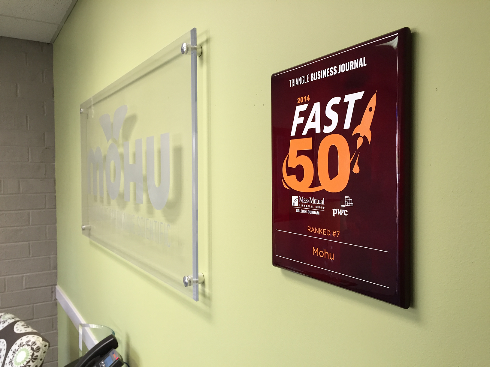 Mohu - 2014 Triangle Business Journal Fast 50 Awards
