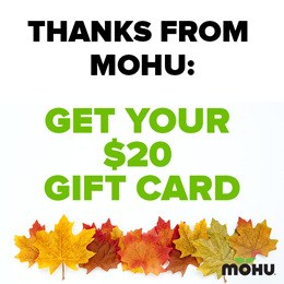 Mohu Black Friday $20 Gift Card
