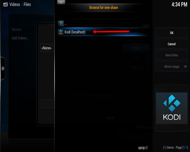 how to setup download folder in kodi