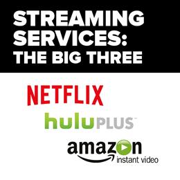 Streaming Media Services - Netflix, Hulu Plus, Amazon Instant Video