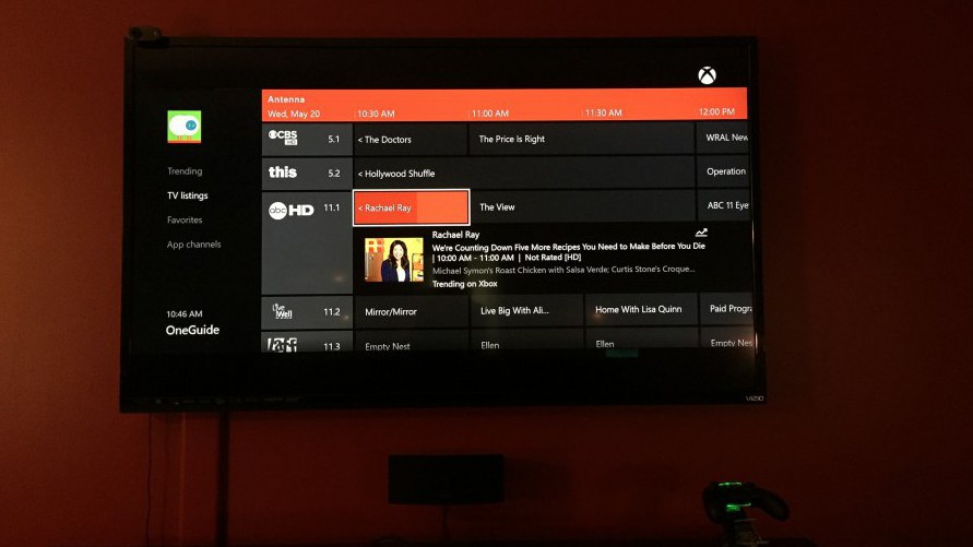 OTA TV Guide on Xbox One with Mohu and Hauppauge