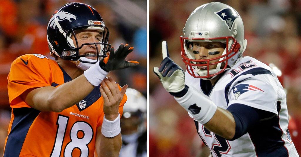 Tom Brady Peyton Manning NFL Conference Championships