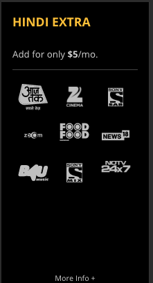Sling TV Hindi Extra